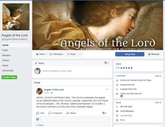 Angels of the Lord Facebook page