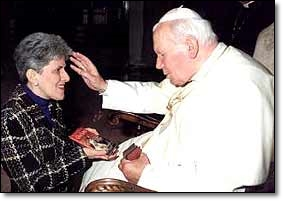 Susan Tassone and Pope Saint John Paul II